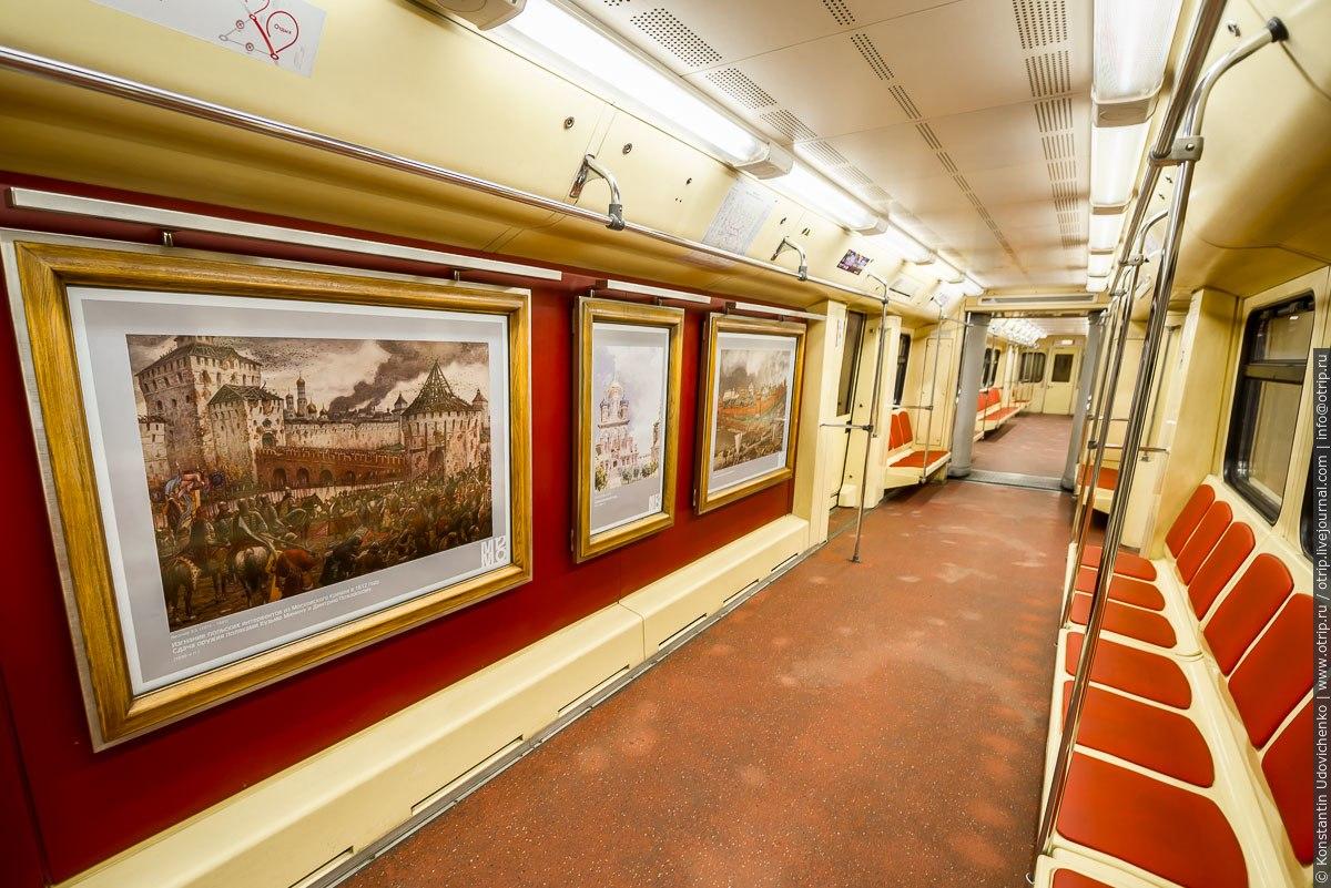 """img9114s.jpg - Поезд-галерея """"Акварель"""" в Московском метро (27.09.2016)"""