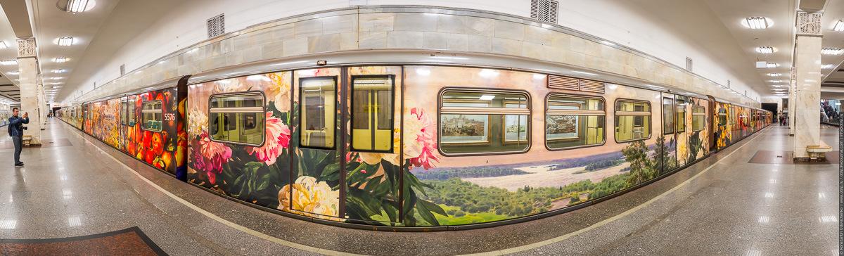 "pano-imgs-1sm.jpg - Поезд-галерея ""Акварель"" в Московском метро (27.09.2016)"