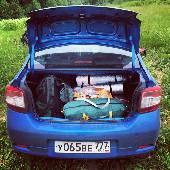 К слову сказать, багажник у #новыйлоган по прежнему большой. Туристического скарба и моток на пять дней, на трех человек. Души мешают конечно, но в целом еще свободное место остается. #nwfort
