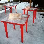 Пытались позавтракать, но Сургут на столько суров, что по утрам подают брикеты льда. #nynordexp