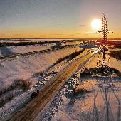 Встали на обратный путь. Едем много, снимаем мало. Но сегодня в Сургуте подняли #drone в воздух. Кто знает, приложение DJI показывает расстояние до коптера по земле или по прямой? #nynordexp