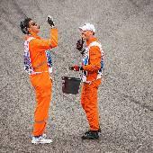 Crazy Russian marshals :) #f1sochi #f1sochi2015 #f1otrip #RussianGP #sochiautodrom #f1 #formula1