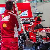 Бокс Scuderia Ferrari. #f1sochi #f1sochi2015 #f1otrip #russiangp #f1 #formula1 #sochiautodrom