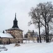 Внутри монастырь просто огромен! #3DLacBlanc