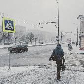 Снег ин да Москав.