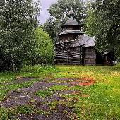 Не смотря на асфальт, оставленный древними зодчими, музей деревянного зодчества в Костроме даже поинтересней Витославлиц будет. #3dayret