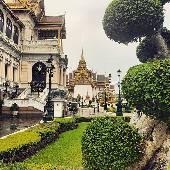 Местами очень европейская архитектура, если на крыши не смотреть. #thaiotrip